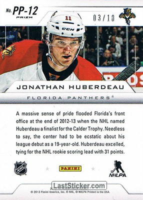 Jonathan Huberdeau (Florida Panthers) - Back