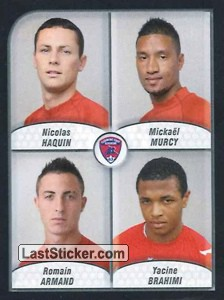Haquin/Murcy/Armand/Brahimi (Clermont foot Auvergne 63)