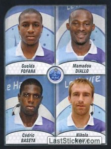 Fofana/Diallo/Baseya/Nikezic (Havre Athletic Club)