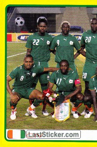 Ivory Coast team (1 of 2) (Ivory Coast)