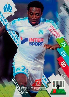 OM-02 DJA DJEDJE # IVORY COAST MARSEILLE CARD ADRENALYN FOOT 2015 PANINI