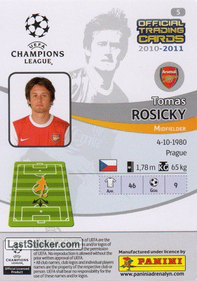 Tomas Rosicky (Arsenal) - Back