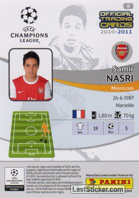 Samir Nasri (Arsenal) - Back