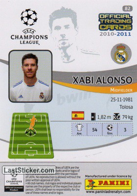 Xabi Alonso (Real Madrid) - Back