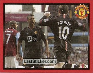 Aston Villa v Manchester United - Nani & Rooney (Doing the Double!)
