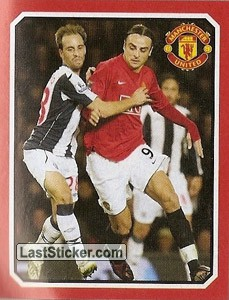 West Bromwih Albion v Manchester United - Berbatov (2009 fixtures poster)