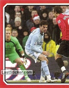 Manchester United v Manchester City - Berbatov (1 of 2) (2009 fixtures poster)