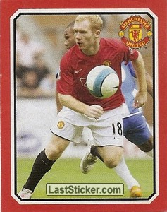 Wigan Athletic v Manchester United - Scholes (2009 fixtures poster)