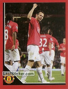 Ryan Giggs in celebration (Ryan Giggs)