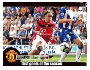 Berbatov scores vs Wigan (First goals of the season)