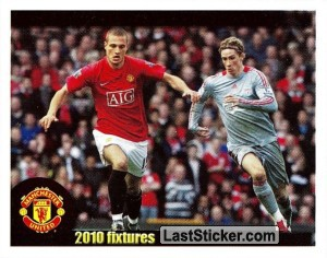 Manchester United v Liverpool - Vidic (2010 fixtures poster)