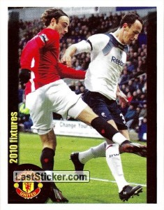 Bolton Wanderers v Manchester United - Berbatov (2010 fixtures poster)