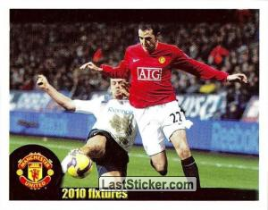 Bolton Wanderers v Manchester United - O'Shea (2010 fixtures poster)