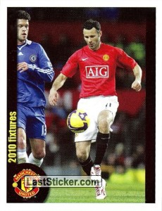 Manchester United v Chelsea - Giggs (2010 fixtures poster)