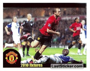 Blackburn Rovers v Manchester United - Rooney (2010 fixtures poster)