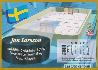 Jan Larsson (Team Sweden) - Back
