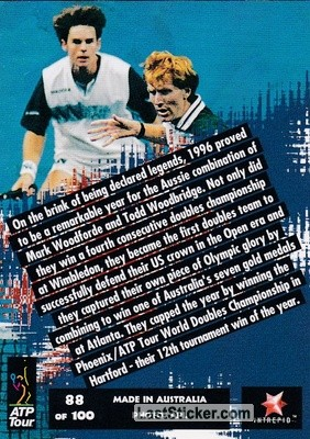 Mark Woodforde / Todd Woodbridge (Australia) - Back