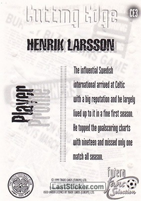 Henrik Larsson (Cutting Edge) - Back