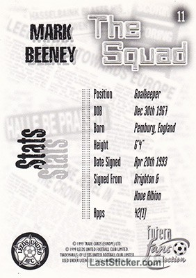 Mark Beeney (The Squad) - Back