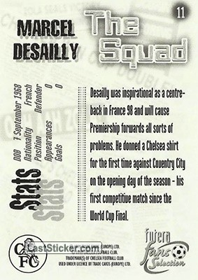 Marcel Desailly (The Squad) - Back