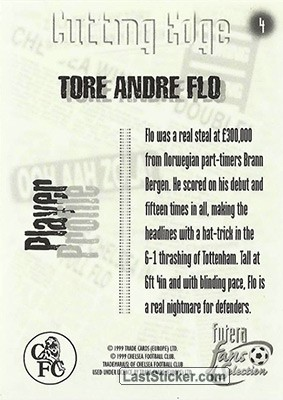 Tore Andre Flo (Cutting Edge) - Back