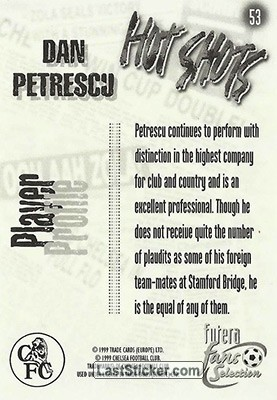 Dan Petrescu (Hot Shots) - Back