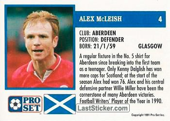 Alex McLeish (Aberdeen) - Back
