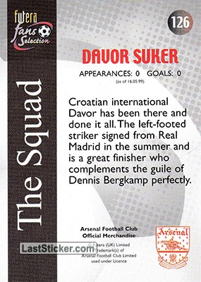 Davor Suker (The Squad) - Back