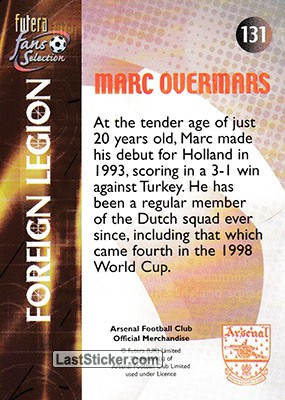 Marc Overmars (Foreign Legion) - Back