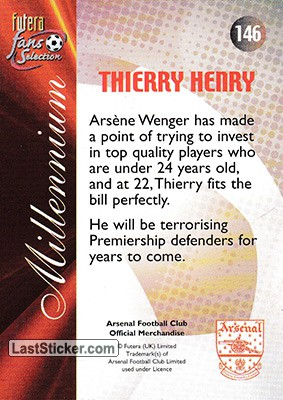 Thierry Henry (Millennium) - Back