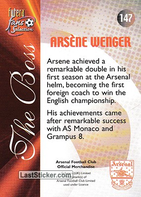 Arsene Wenger (The Boss) - Back