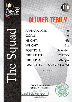 Olivier Tebily (The Squad) - Back