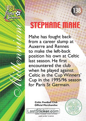 Stephane Mahe (Millennium) - Back