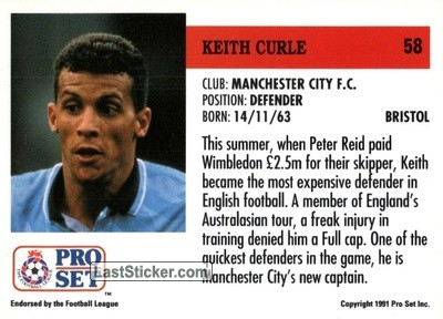 Keith Curle (Manchester City) - Back