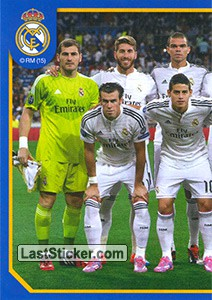 Team shot (In white equip) (puzzle 1) (Real Madrid 2014-15)
