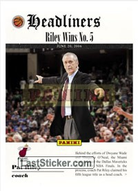 Pat Riley (Miami Heat) (Headliners)