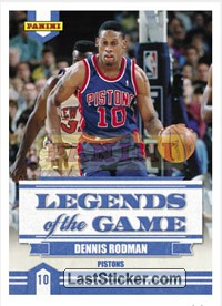 Dennis Rodman (Detroit Pistons) (Legends of the Game)