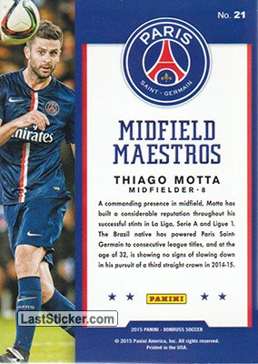 Thiago Motta (Paris Saint-Germain) - Back