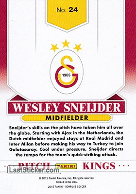 Wesley Sneijder (Galatasaray) - Back
