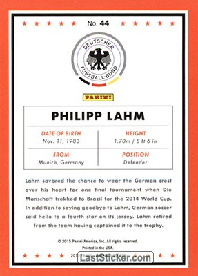 Philipp Lahm (Germany) - Back