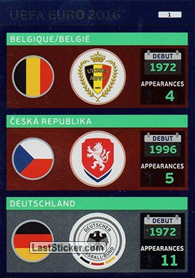 Card 1: Teams: Belgique/België / Česká Republika