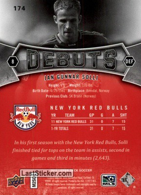 Jan Gunner Solli (New York Red Bulls) - Back