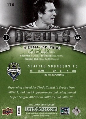 Michael Gspurning (Seattle Sounders) - Back