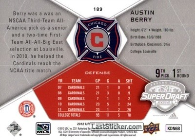 Austin Berry (Chicago Fire) - Back