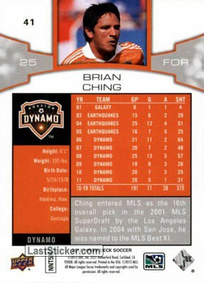 Brian Ching (Houston Dynamo) - Back