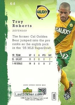 Troy Roberts (Los Angeles Galaxy) - Back