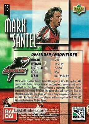 Mark Santel (Dallas Burn) - Back