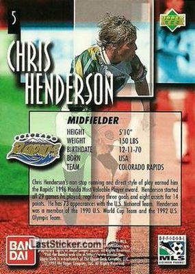 Chris Henderson (Colorado Rapids) - Back
