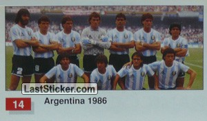 Argentina (Winner Team Photo WC-1986) (History of the World Cup)
