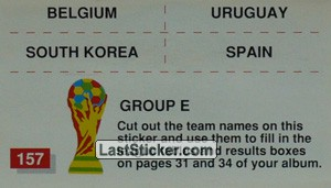 Group E (team-participants mini stickers)
